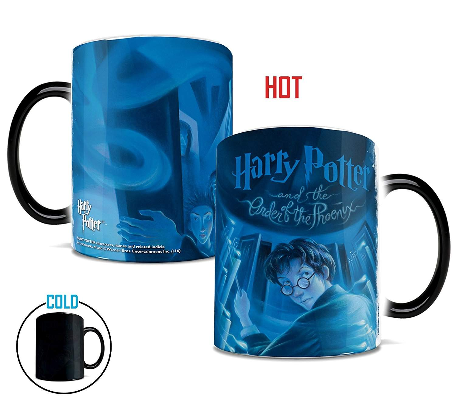 Penguin Book Cover Coffee Mugs : Harry potter and the order of phoenix book cover heat