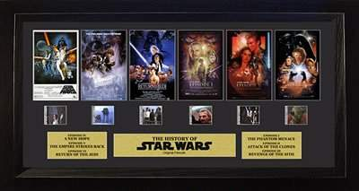 star wars through the ages six films framed art captain