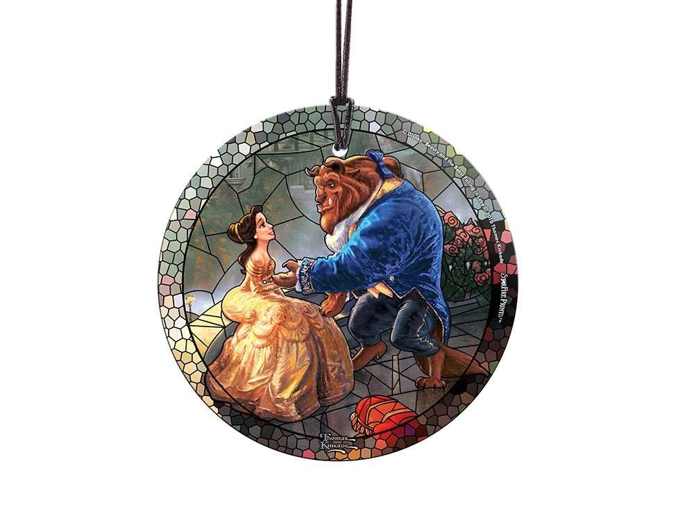 StarFire Prints Glass Ornament Thomas Kinkade Disney (Beauty and the Beast)