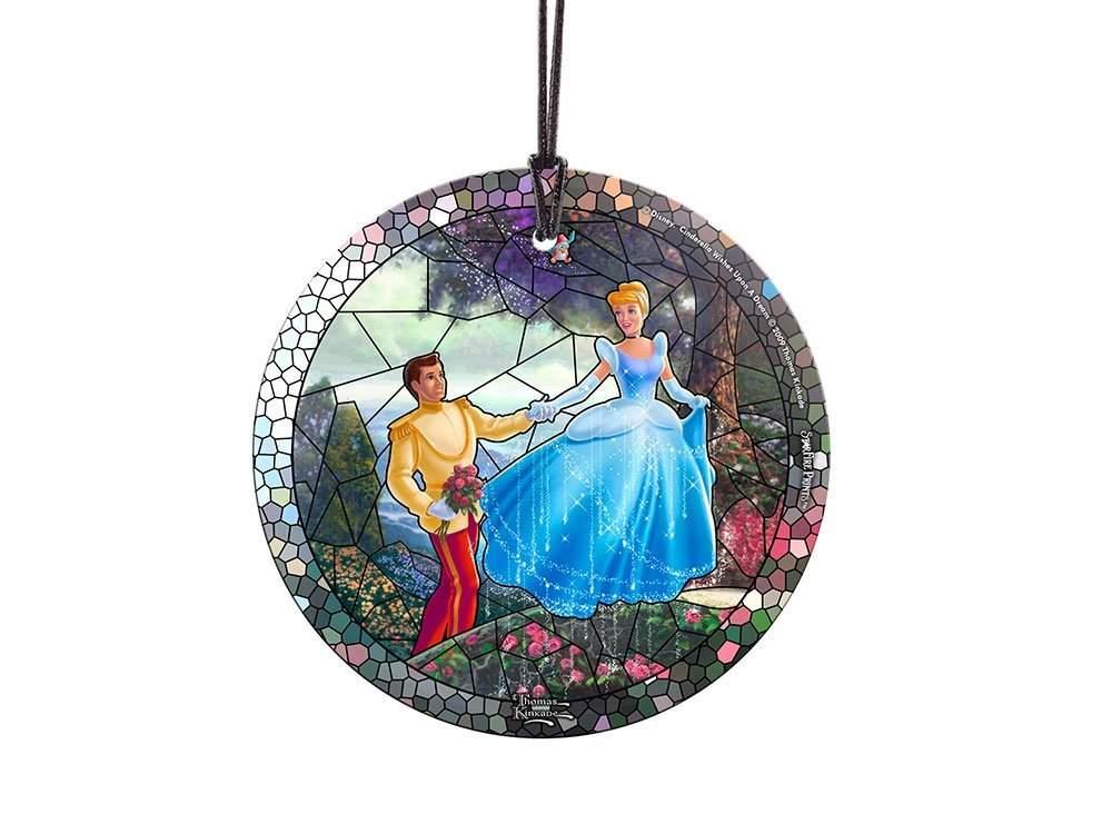 StarFire Prints Glass Ornament Thomas Kinkade Disney (Cinderella)