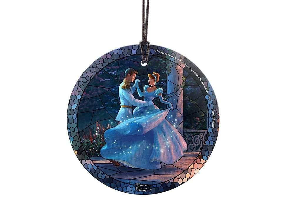 StarFire Prints Glass Ornament Thomas Kinkade Disney (Cinderella – Dancing in the Starlight)
