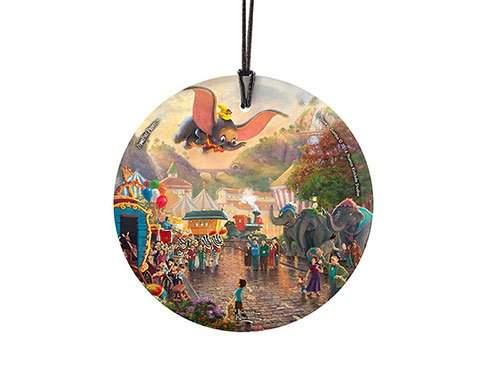 StarFire Prints Glass Ornament Thomas Kinkade Disney (Dumbo)