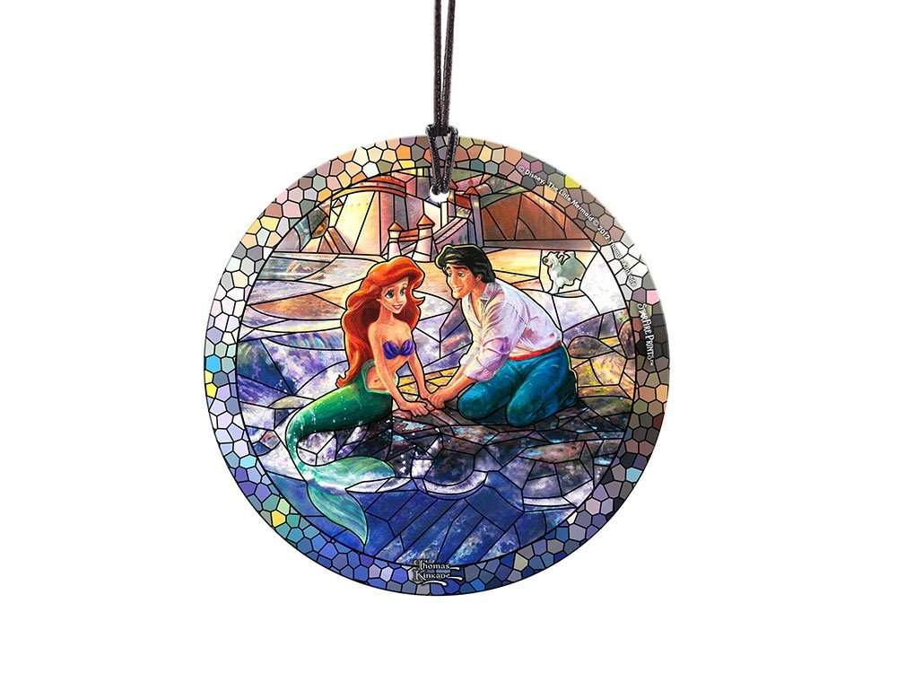 StarFire Prints Glass Ornament Thomas Kinkade Disney (The Little Mermaid)