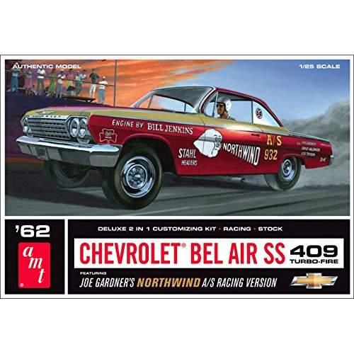 1962 Chevy Bel Air SS 409 Joe Gardner Racing Version Northwind Super Stock Model Kit (1:25 Scale)
