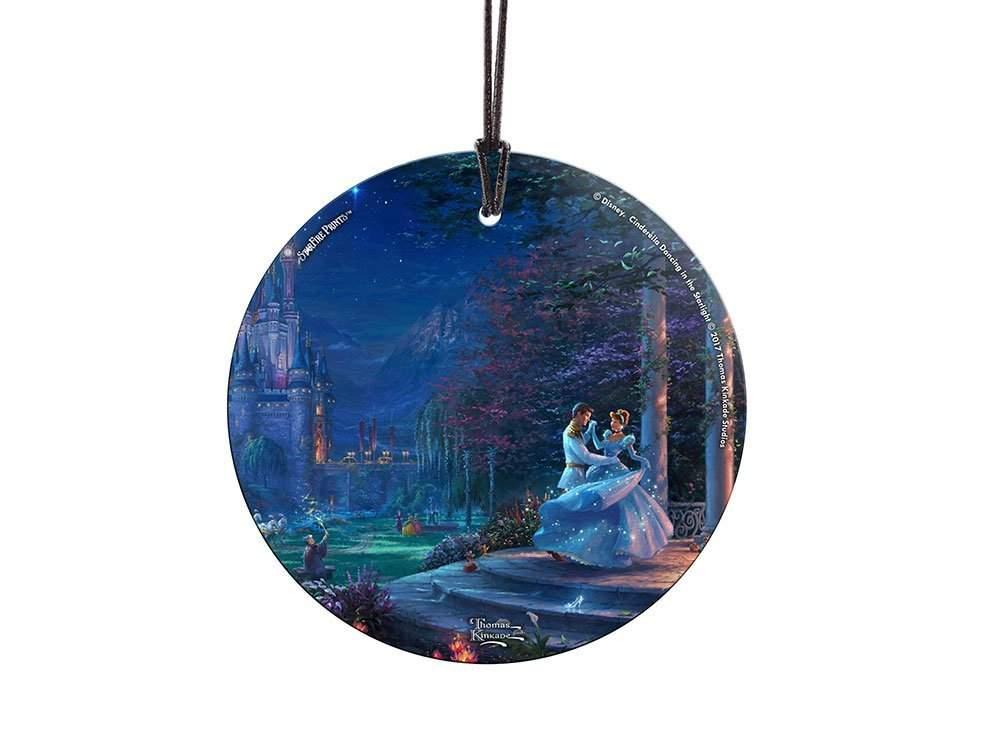 StarFire Prints Glass Ornament Thomas Kinkade Disney Dancing in the Starlight (Cinderella)