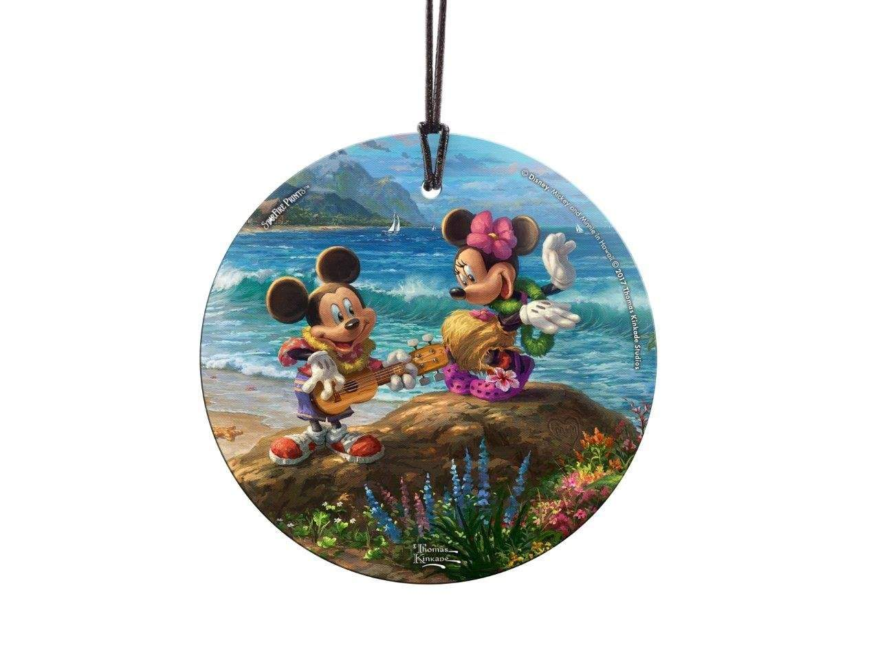 StarFire Prints Glass Ornament Thomas Kinkade Disney Mickey Minnie Hawaii
