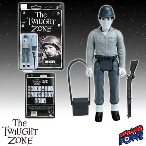 "Twilight Zone Retro Action Figure of Leonard Nimoy as Hansen, from the Episode ""A Quality of Mercy."""