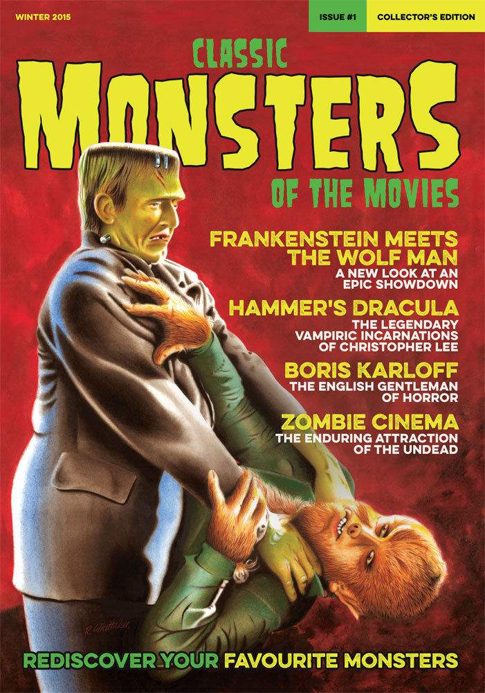 Classic Monsters of the Movies Magazine Issue #1 MINT Condition KARLOFF Wolf Man