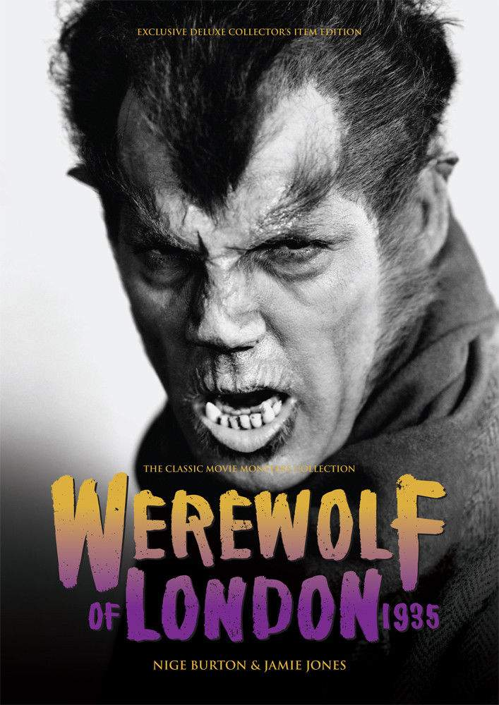 Werewolf of London 1935 Large Softcover Book Classic Movie Monsters Collection!