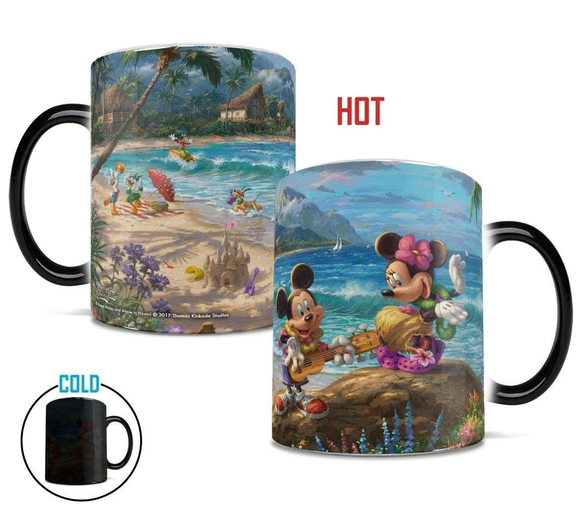 Thomas Kinkade (Mickey & Minnie – Hawaii) Morphing Mug