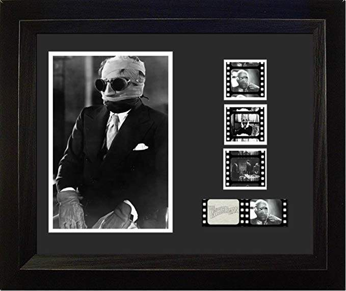 The Invisible Man 1933 Universal Monster 35mm Film Cell Display Claude Rains