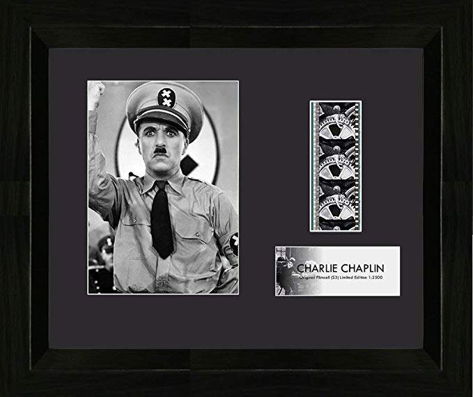 Trend Setters Charlie Chaplin The Great Dictator Vintage 35mm Film Cell Movie Display