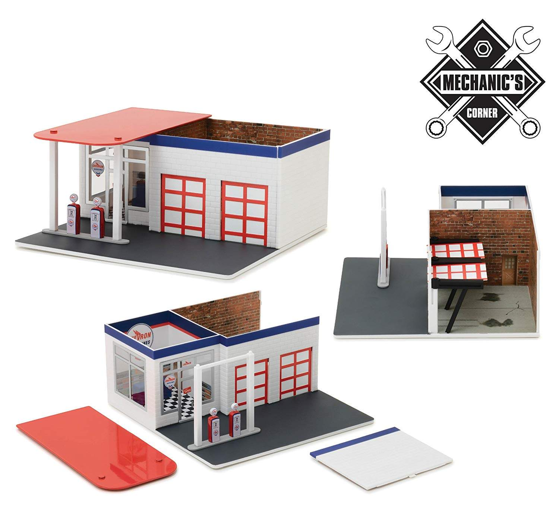 Mechanic's Corner Series 2, Vintage Gas Station Chevron 1/64 by Greenlight 57022
